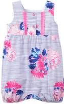 Joules Printed Cotton Romper - White, Size 18-24m