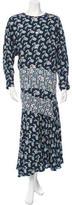 Preen Printed Long Sleeve Maxi Dress
