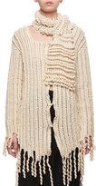 Loewe Wool Fringe Cardigan Sweater