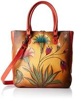 Anuschka Handpainted Leather Multi Compartment Shopper Turkish Garden