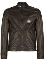 Dolce & Gabbana Leather Zip Jacket