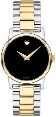 Movado Women's Classic Museum Classic Plating and Material Watch, 27.20mm