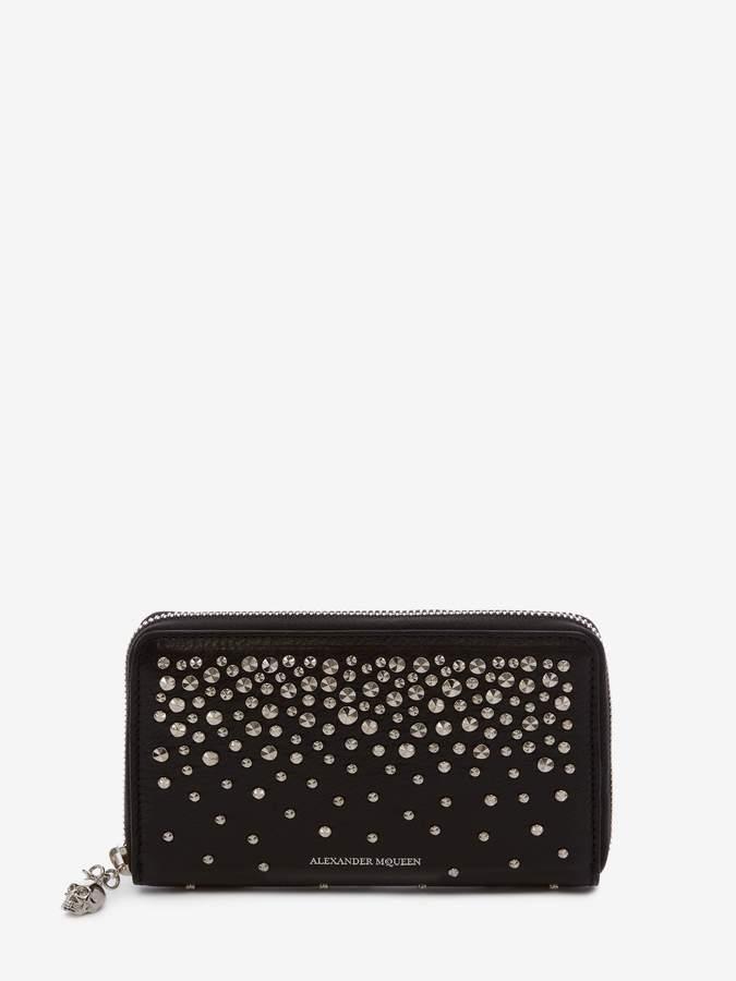 Alexander McQueen Medium Zip-Around Continental Wallet