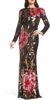 Thumbnail for your product : Mac Duggal Long Sleeve Sequin Column Gown