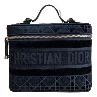 Christian Dior Navy Velvet Travel bags