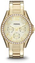 Fossil Women's ES3203 Riley Gold-Tone Stainless Steel Watch with Link Bracelet
