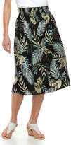 Croft & Barrow Women's Smocked Challis Midi Skirt