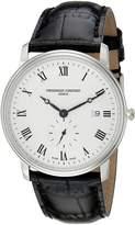 Frederique Constant Men's FC-245M5S6 Slim Line Dial Roman Numerals Watch