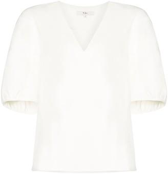 Tibi drape V-neck top