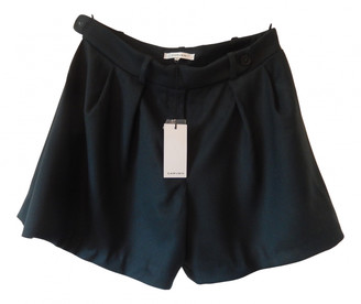 Carven Green Wool Shorts