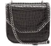 Stella McCartney Falabella Box mini crocodile-effect shoulder bag