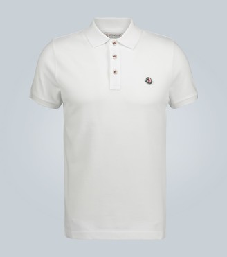 Moncler Cotton short-sleeved polo shirt