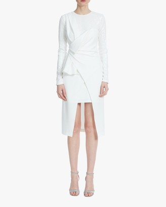 ONE33 SOCIAL Drape-Front Crossover Dress