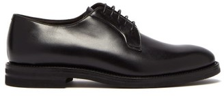 Brunello Cucinelli Leather Derby Shoes - Mens - Black