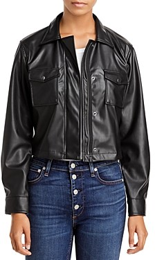 Velvet by Graham & Spencer Marilee Faux Leather Cropped Jacket