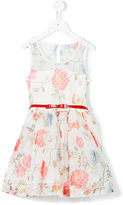 MonnaLisa butterfly printed dress - kids - Cotton/Polyester - 4 yrs