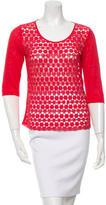 Maje Crochet Linen-Blend Top