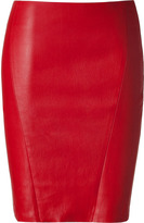 Jitrois Red Stretch Leather Mini Skirt