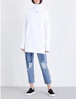 Off-White Backless cotton-jersey sweatshirt