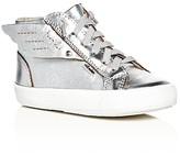 Old Soles Girls' Urban Wings Metallic High Top Sneakers - Walker, Toddler