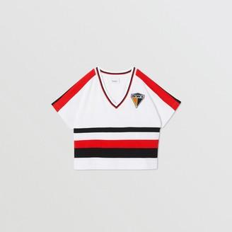 Burberry Childrens Logo Graphic Striped Cotton T-shirt