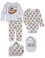 Eleven Paris Infant Girl's Little Elevenparis Donut Print Tee, Pants, Bodysuit & Bib Set