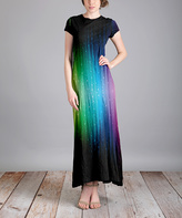 Aster Black Rainbow Maxi Dress - Plus Too