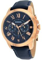 Fossil FS4835 Men's Grant Blue Leather Watch