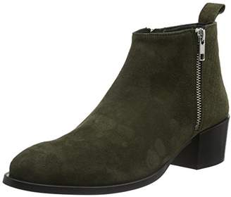 Gardenia COPENHAGEN Women's Alina Ankle Boots Green (Suede Croco Olive)