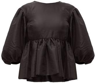 Cecilie Bahnsen - Alice Tiered Puffball-sleeve Faille Top - Womens - Black
