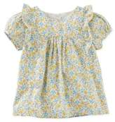 Osh Kosh Ruffled Floral Short Sleeve Top
