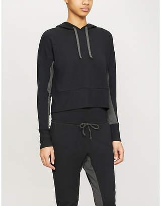 Beyond Yoga Swear contrast-panel stretch-woven hoody
