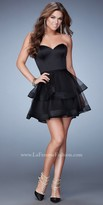 La Femme Tiered Sweetheart Homecoming Dress