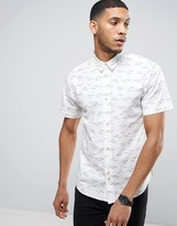 Bellfield Shirt In Gull Print In Regular Fit