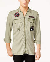INC International Concepts I.n.c. Men's Zip-Front Patch Shirt, Created for Macy's
