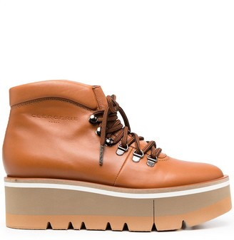 Clergerie Bubble platform ankle boots