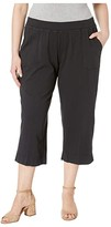 Fresh Produce Plus Size Key Largo Capris (Black) Women's Capri