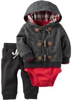 Carter's Baby Boy Cardigan, Reindeer Bodysuit & Pants Set