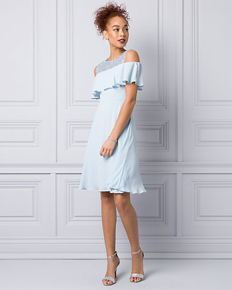 Le Château Embroidered Lace & Crepe Cocktail Dress