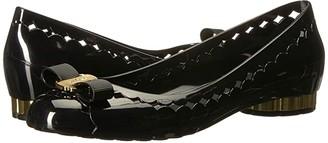 Salvatore Ferragamo Jelly Ballet Flat (Nero Tomaio) Women's Slip on Shoes