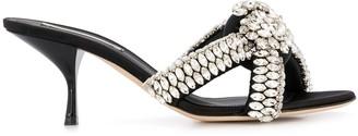 Marco De Vincenzo marqueuse stone satin sandals