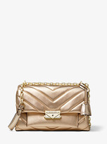 Michael Kors Cece Medium Quilted Metallic Leather Convertible Shoulder Bag