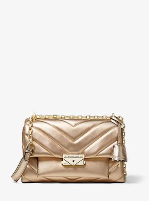 MICHAEL Michael Kors Cece Medium Quilted Metallic Leather Convertible Shoulder Bag