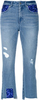 Sjyp cropped distressed jeans