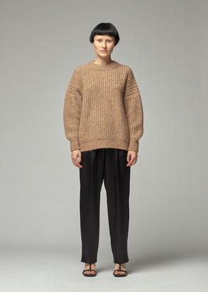 LAUREN MANOOGIAN Women's Fisherwoman Knit Pullover in Natural Camel Size 1