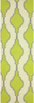 nuLoom Handmade Flatweave Wool Trellis Green Runner Rug (2'6 x 8')