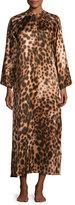Natori Leopard-Print Zip Caftan, Natural