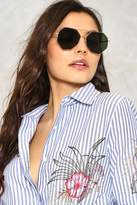 Nasty Gal nastygal Hot Shot Hexagon Shades