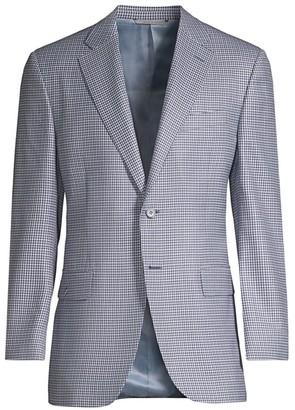Canali Check Wool Jacket