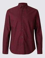 Limited Edition Pure Cotton Slim Fit Printed Oxford Shirt
